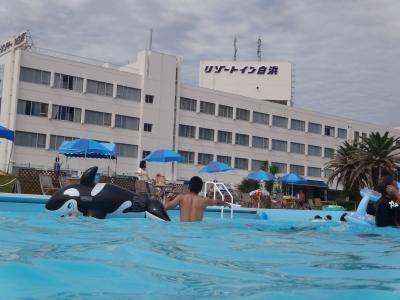 盛夏のプール遊び☆三世代