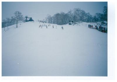 地図塗り絵~スキー旅行~