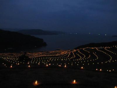 土谷棚田 火祭り (四年ぶり)