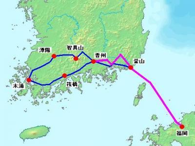 2012年 韓国南部周遊 自転車旅行 【8日目 晋州~釜山 & 最終日】