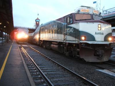 Amtrak鉄道の旅② その1 Cascade号、カルトレイン&サウンド・トランジット・ライト・レール