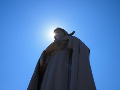 天使の聖母 トラピスチヌ修道院★青空に映える聖像たちは神々しかった!