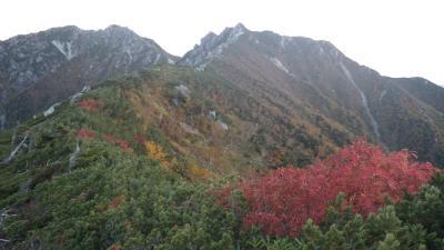 紅葉の越百山~南駒ケ岳