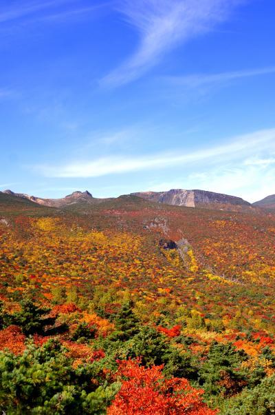 ◆ほんとの空、安達太良山の紅葉