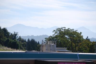 越後川口サービスエリアから見られる風景