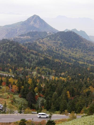 赤や黄に色づいた志賀高原を歩く・・・①出発から志賀高原・高天ヶ原温泉へ