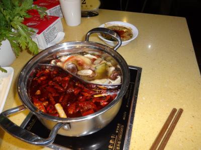 最新、中国旅行記、四川料理、広東料理、潮州料理を楽しむー④ 四川火鍋料理 ローカルレストラン in 重慶  10月 2012年