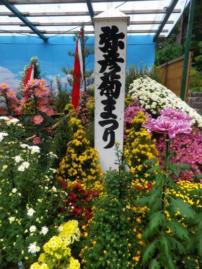 彌彦神社の菊祭りと弥彦公園の紅葉