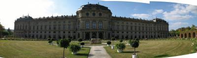 ドイツ中心に世界遺産の旅  その14 最終訪問地、ビュルツブルグの司教館