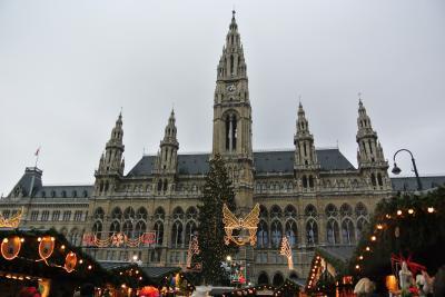電車に乗ってウィーンのクリスマスマーケットへ