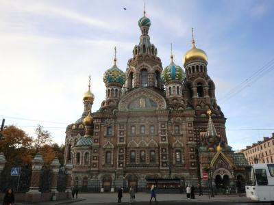 """サンクトペテルブルグ・""""血の上の教会""""を訪ね、 Finn Air にて13日ぶりの帰国"""