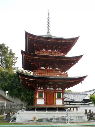 日本の旅 関西を歩く 大阪府堺市の家原寺(えばらじ)三重塔周辺