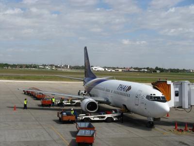 タイ国際航空でビエンチャンへ