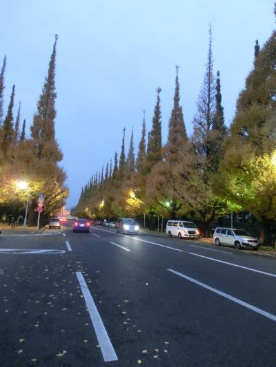 ちょっと寄り道・夜の神宮外苑いちょう祭り[2012年11月]