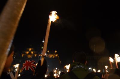 2012/2013年末年始のエディンバラ・ロンドン(2/7) ~1日目・エディンバラでTorchlight Proceccion参加編~