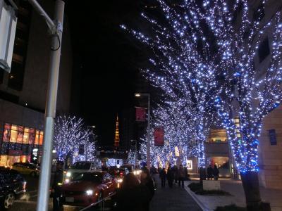 六本木ヒルズ&ミッドタウンイルミネーションとアートと夕食(2012年12月)
