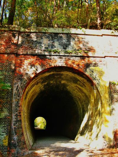 安曇野-3 旧国鉄篠ノ井線廃線敷 けやきの森自然園で ☆漆久保トンネル上越え