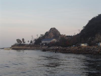 採石の島 姫路沖の男鹿島一周紀行