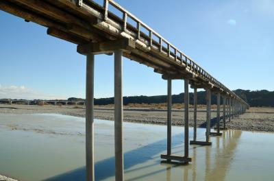 蓬莱橋と大井川マラソンコースの散策