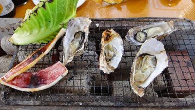 かき小屋で焼き牡蠣を賞味する・・・横浜市海の公園
