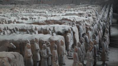西安観光(秦始皇帝兵馬俑)