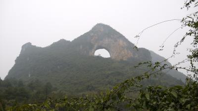 桂林観光(大榕樹・聚龍潭・月亮山)
