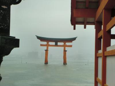 12月、山陽旅行⑩、青春18切符、4日目、厳島神社・大和ミュージアム。
