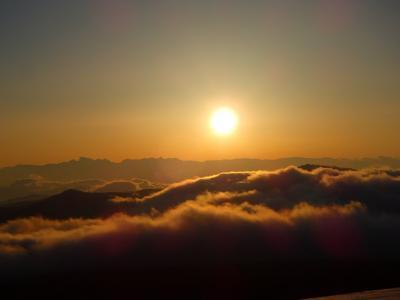 四阿山 ~~貸切雪山登山、夕焼けと樹氷~~