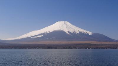 大阪からのお客様(9)・・・山中湖畔から富士山を見上げ、ほうとうの小作で昼食。