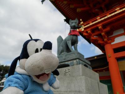 グーちゃん、厳冬の京都へ行く!(2時間ドラマといえば伏見稲荷編)