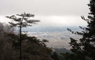 春はまだ!信州・安曇野の里山「鍬の峰」霧氷!!