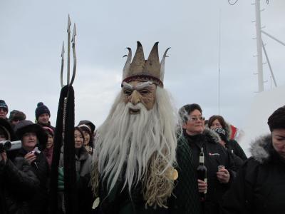 ノルウェー 沿岸急行船でオーロラを見る旅☆2013.2 ④HURTIGRUTEN ms Finnmarken 12-Day Cruising Day4 北極圏に入る オーロラに感動♪