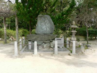 日本の旅 関西を歩く 大阪府守口市、佐太天神宮境内の与謝蕪村の句碑周辺