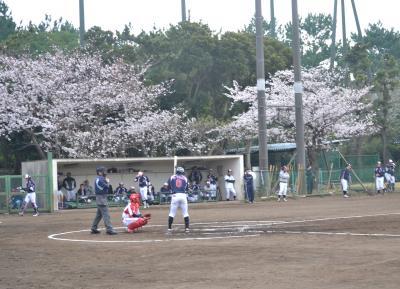 【球春到来】桜の下で社会人野球観戦@三菱重工横浜 金沢グラウンド