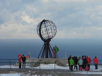 ノルウェー 沿岸急行船でオーロラを見る旅☆2013.2 ⑥HURTIGRUTEN ms Finnmarken 12-Day Cruising Day6 最北の岬ノールカップ