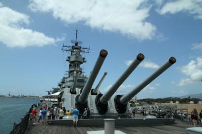 パールハーバー 戦艦はさすが迫力満点! でも気分はちょっぴりアウェー、、、
