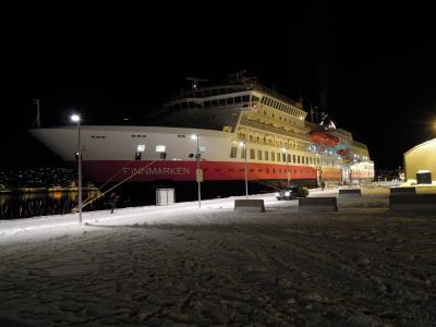 ノルウェー 沿岸急行船でオーロラを見る旅☆2013.2 ⑧HURTIGRUTEN ms Finnmarken 12-Day Cruising Day8世界最北の町ハンメルフェスト&最高のオーロラ♪