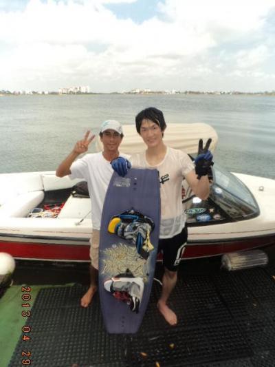 ■カンクン発■ カリブでウェイクボードに初挑戦 by ウォータースポーツカンクン店長吉田