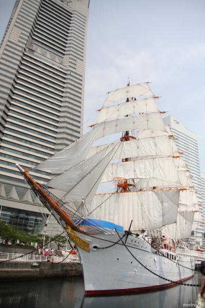太平洋の白鳥・日本丸の総帆展帆