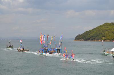 鞆の浦 初夏の風物詩 鯛網