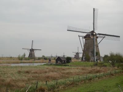 【オランダ】?.キンデルダイクでサイクリング
