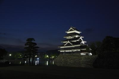 松本観光③ 穂高・松本城ライトアップ