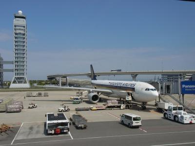 2013年GW シンガポール3泊5日の旅 【初日-その1】①関西空港からのシンガポール航空直行便の旅(2013年5月)