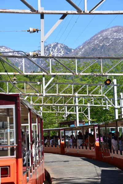 「 新緑の 黒部峡谷  トロッコ電車  【1】 」 2013