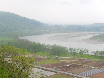関越自動車道・越後川口SAから見られる風景