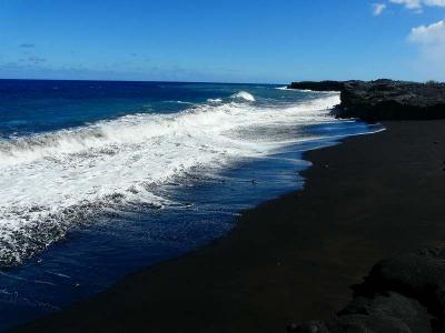 ハワイ旅行(ハワイ島・黒砂海岸)