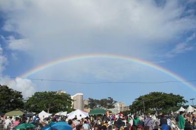 2013.5 Hawaiiタイムシェアの旅①夕暮れのAlamoana 灯籠流し&リムジンツアー