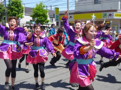 第22回YOSAKOIソーラン祭り(2013年)平岸会場2(踊り屋1Zen's、心~sin~釧路学生魂、紅翔連、テスク&祭人)