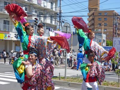 第22回YOSAKOIソーラン祭り(2013年)平岸会場4(バサラ瑞浪、北鼓童なよろ、平岸天神ジュニア、F会)