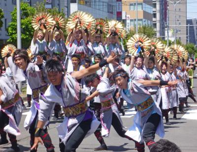 第22回YOSAKOIソーラン祭り(2013年)平岸会場5(札幌大学Lafete、Re:Birth、粋~IKI~ 北海学園大学)
